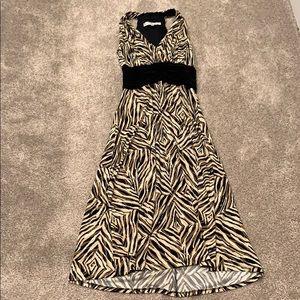 Animal print mid-length dress